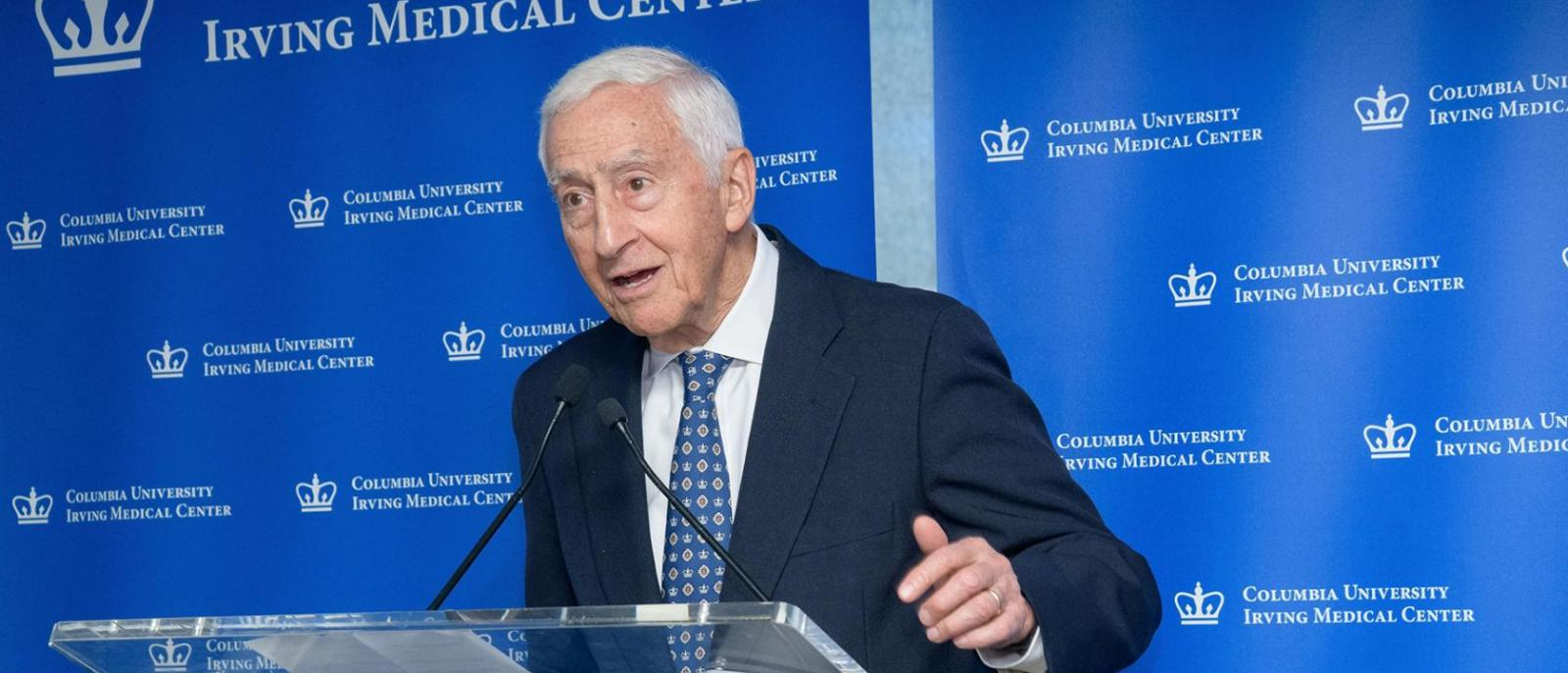 P. Roy Vagelos, MD, spoke during the 2018 ceremony of the Dr. Clyde and Helen Wu Award for International Understanding