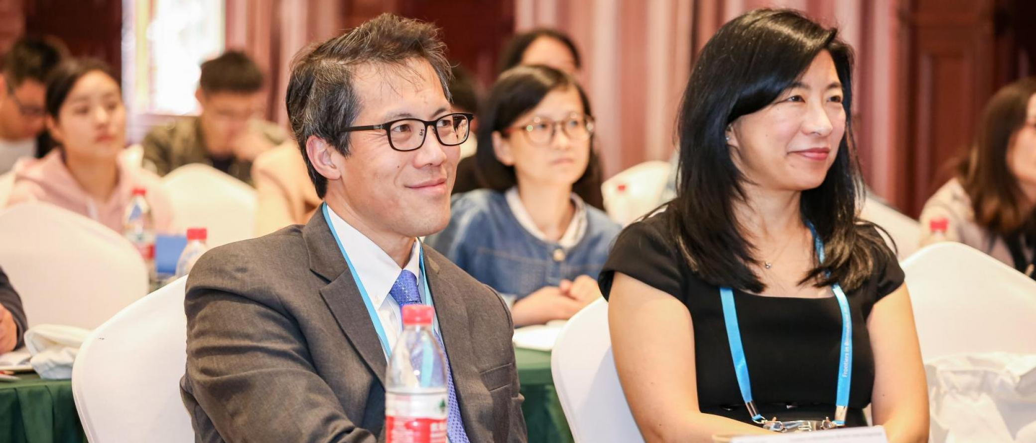 David Wu, MD, and his wife, Bernadine Wu, MD, representing the Wu family, joined the 2019 symposium.